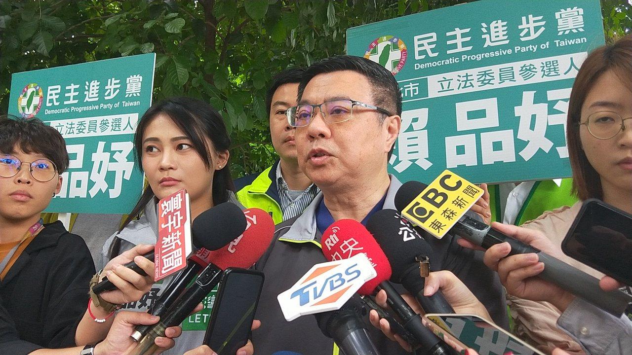 民進黨主席卓榮泰認為韓國瑜提出的議題,是落選感作祟。記者施鴻基/攝影