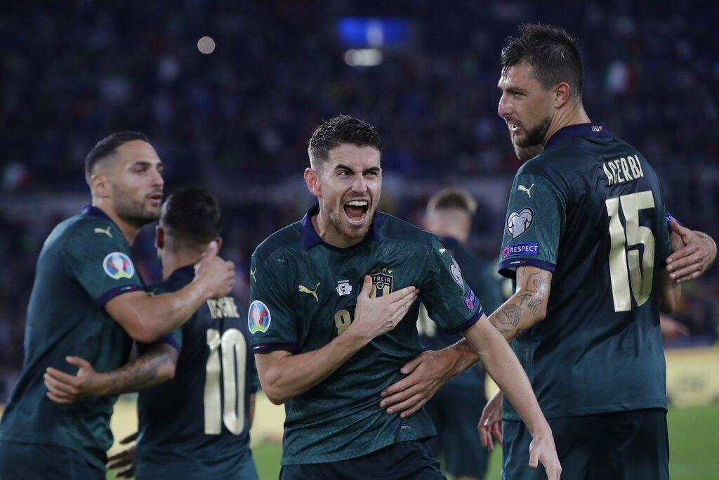 義大利以七戰全勝之姿收下歐國盃門票,成為比利時後第二支出線的隊伍。 美聯社