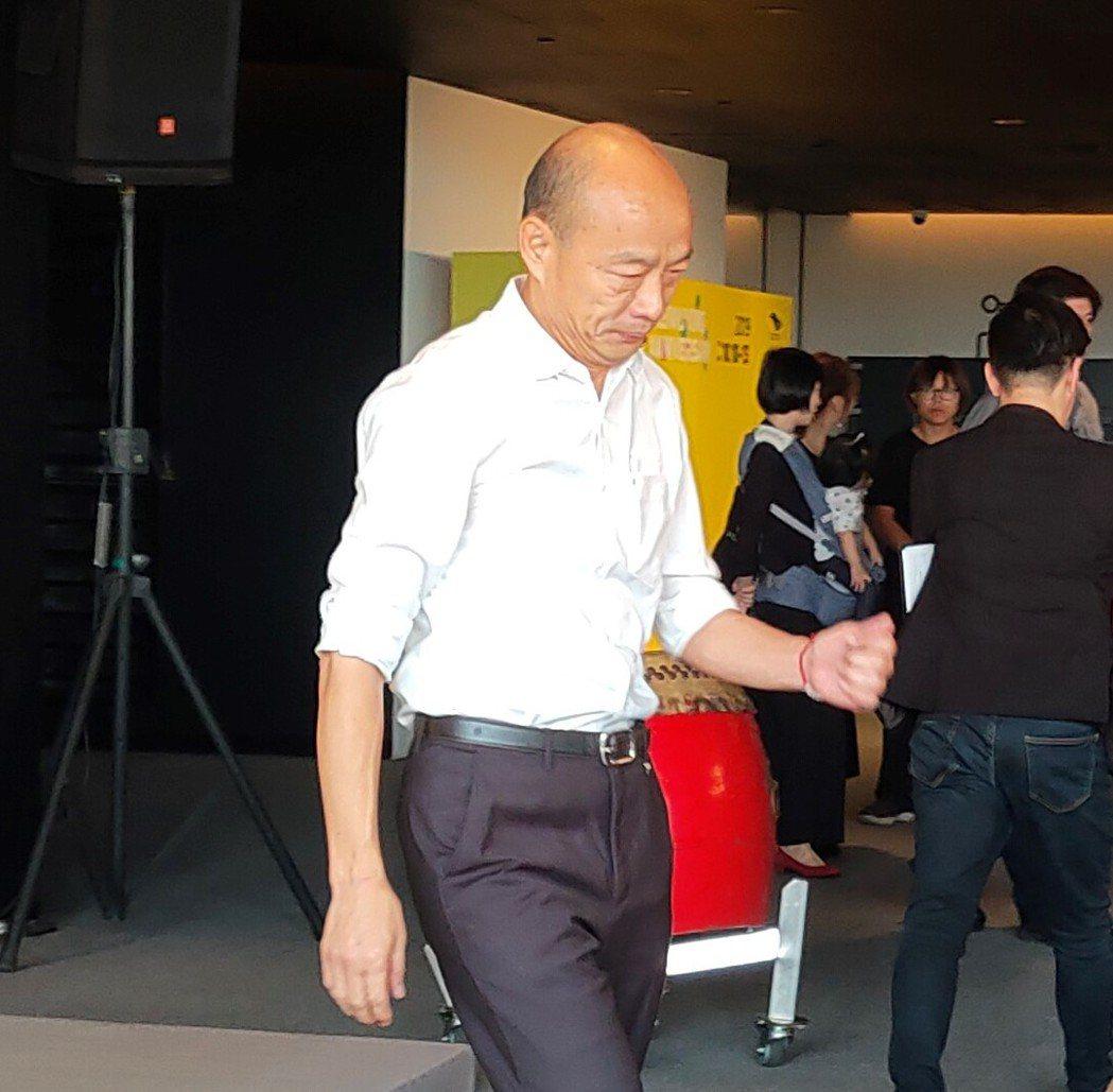 國民黨總統參選人韓國瑜。聯合報系記者蔡容喬/攝影