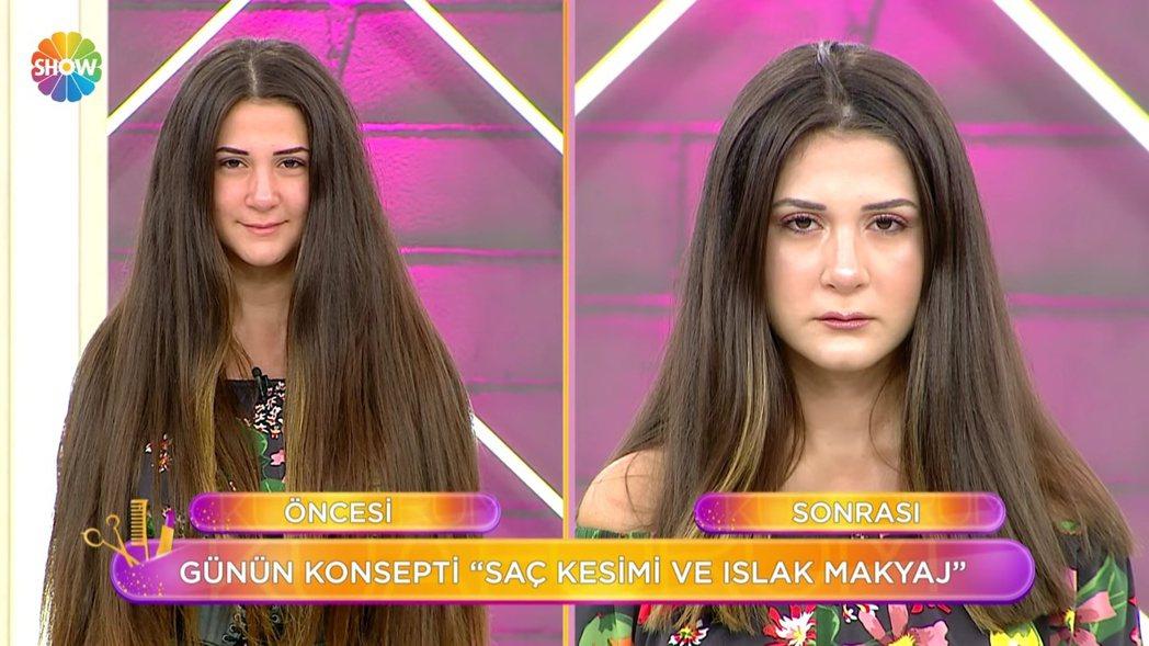 女模剪髮前與剪髮後的模樣。 圖/擷自Youtube