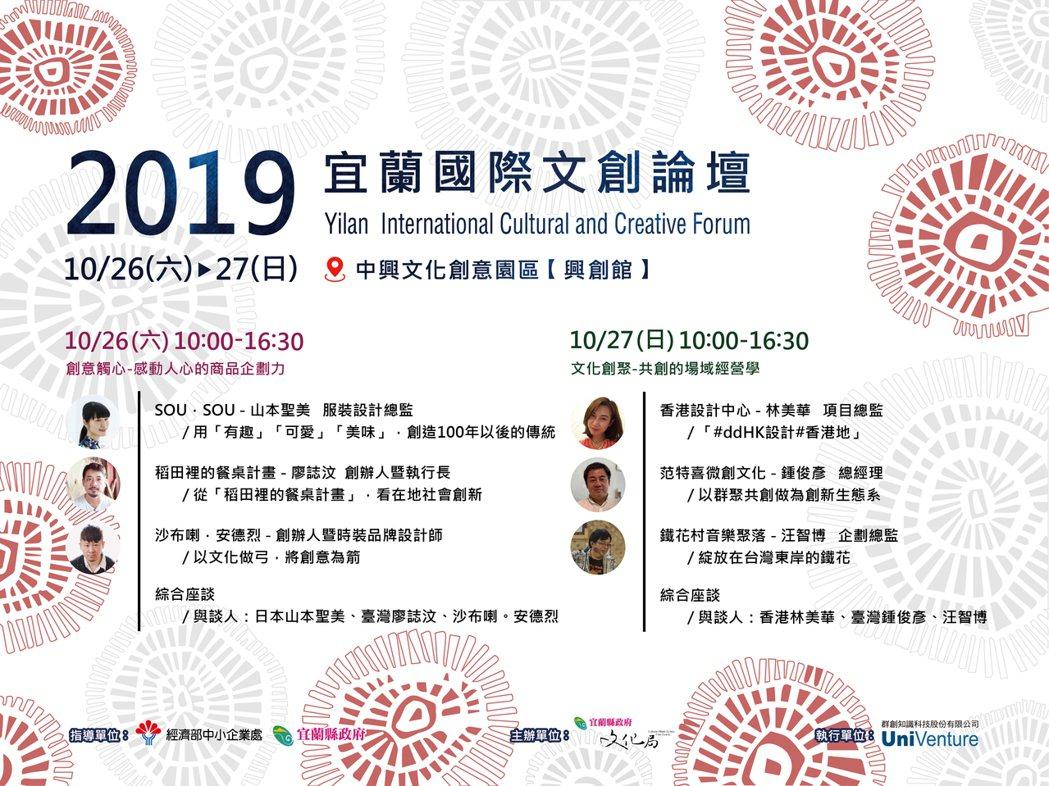 2019宜蘭國際文創論壇。 業者/提供