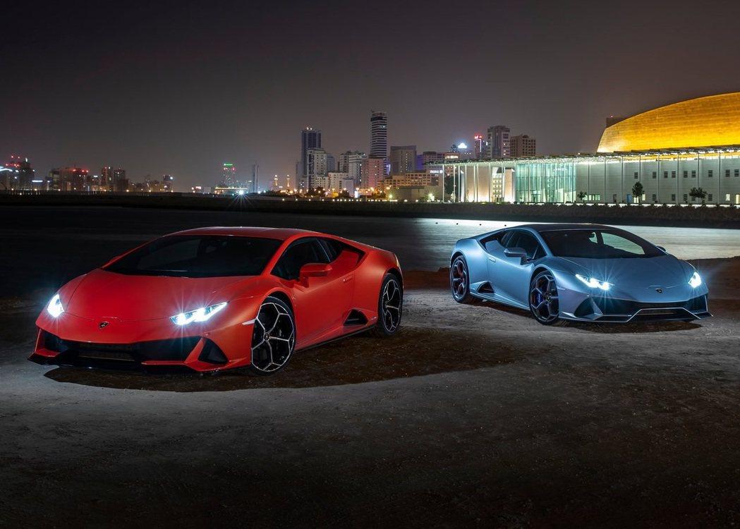 全新Lamborghini Huracan Evo。 摘自Lamborghini