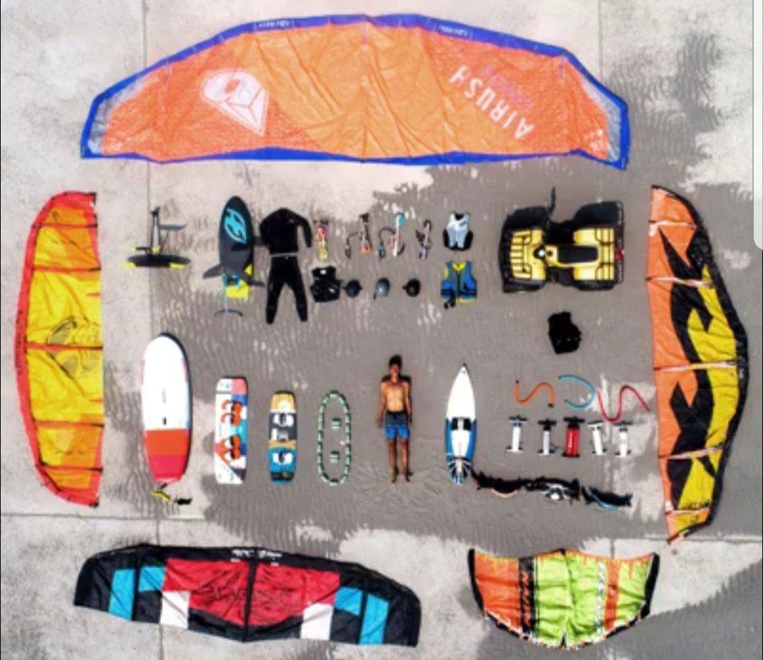 台中市觀光旅遊局介紹風箏衝浪的開箱文。圖/台中市觀旅局提供