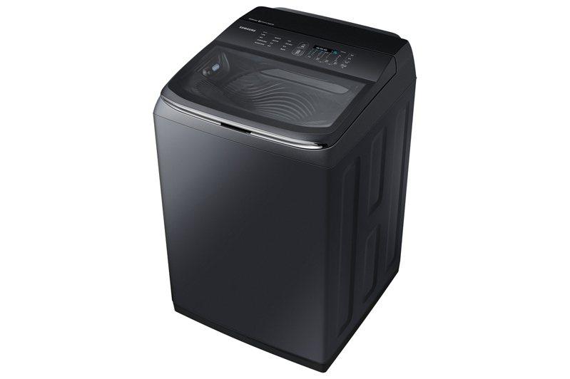 三星智慧觸控系列洗衣機WA20R推出奢華黑,10月15日起在台上市,建議售價29,900元。圖/台灣三星電子提供