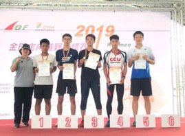 男子20歲組出現今年亞青國手同場對決的畫面。圖/中華定向越野協會提供