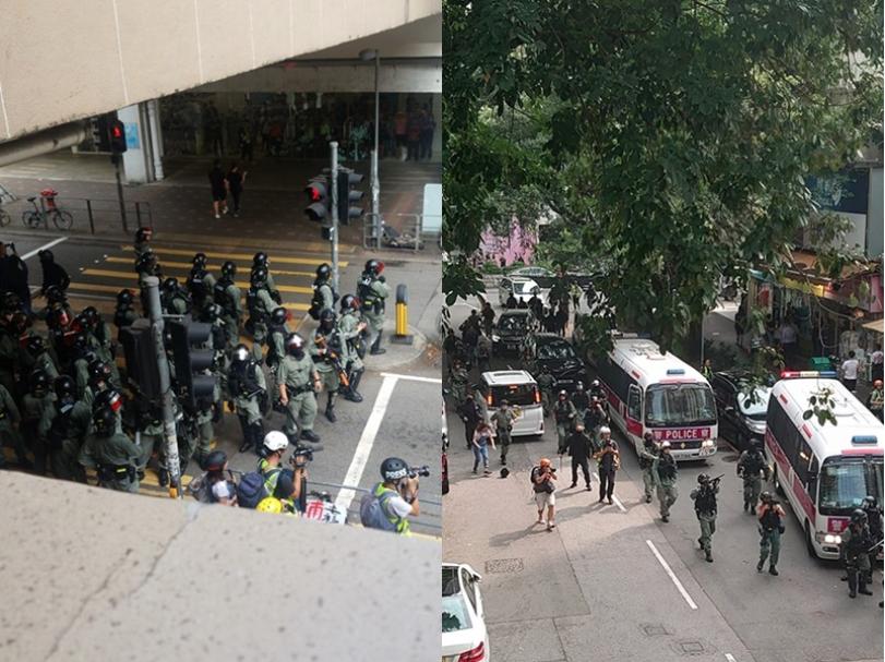 有香港網友今日下午發起「十八區遍地開花」行動,下午二點有許多民眾在大埔超級城聚集...