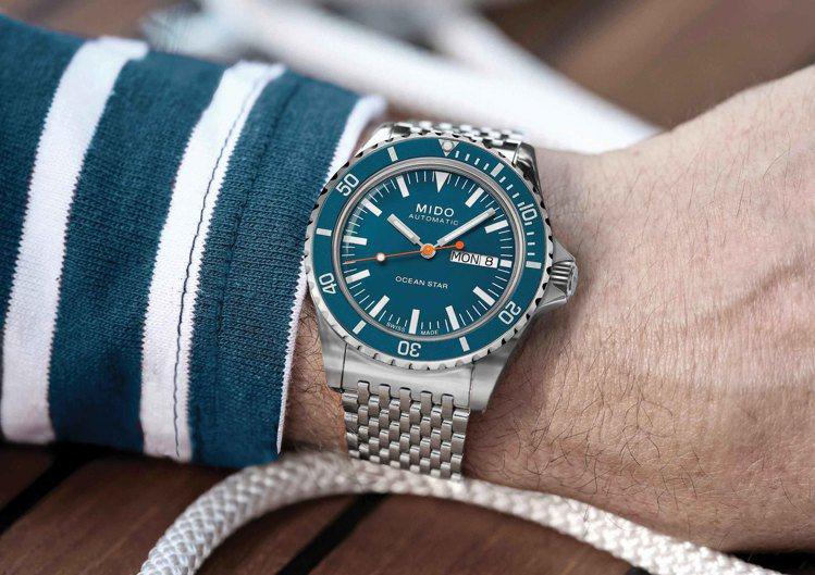 美度Ocean Star Tribute海洋之星75周年特別版腕表,不鏽鋼表殼搭...