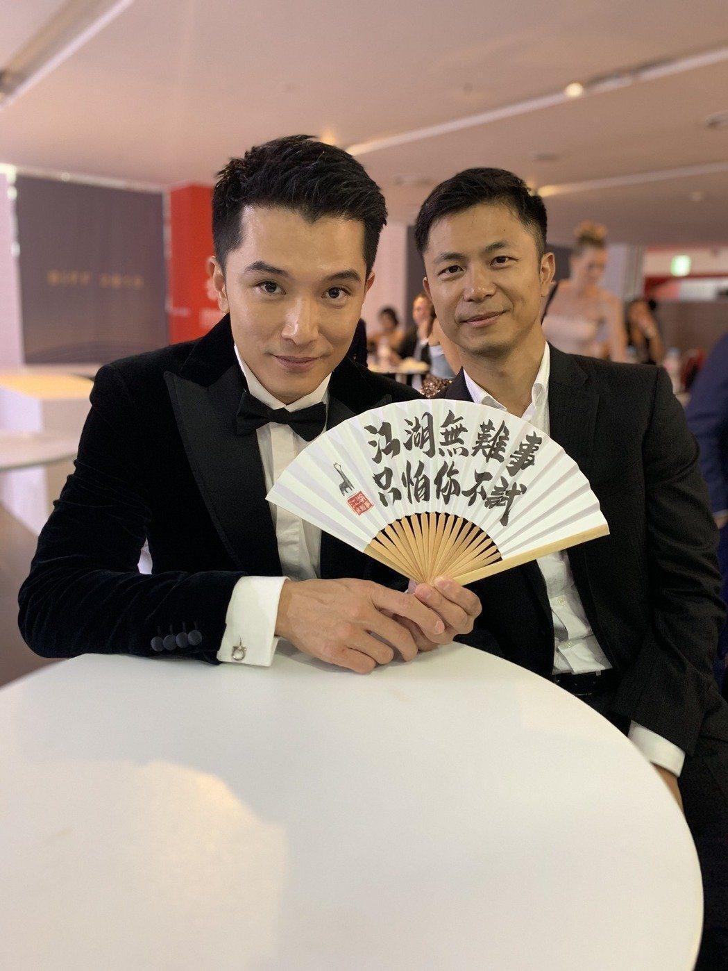 邱澤與「江湖無難事」導演高炳權,出席釜山影展。圖/華映提供