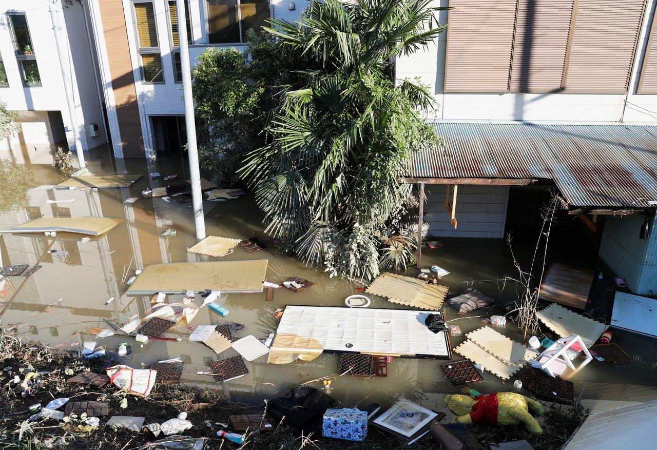 颱風哈吉貝肆虐日本,目前日媒資料顯示已知25死、16人失蹤及166人受傷。圖為川...