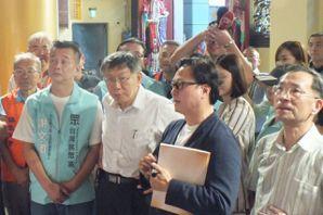 台中5選區民眾黨推謝文卿參選立委 柯P陪拜廟夜市掃街