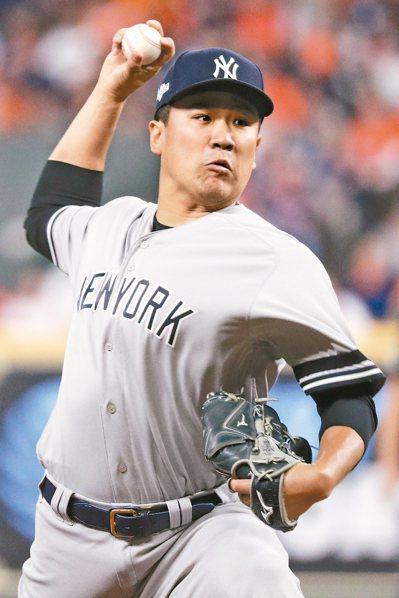 洋基隊日籍投手田中將大昨天好投,助隊在美聯冠軍賽首戰告捷。 (美聯社)