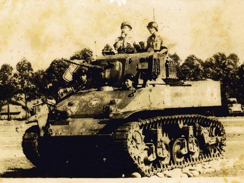 當年意外立下大功的66號M5A1戰車。 圖/金門國家公園管理處提供