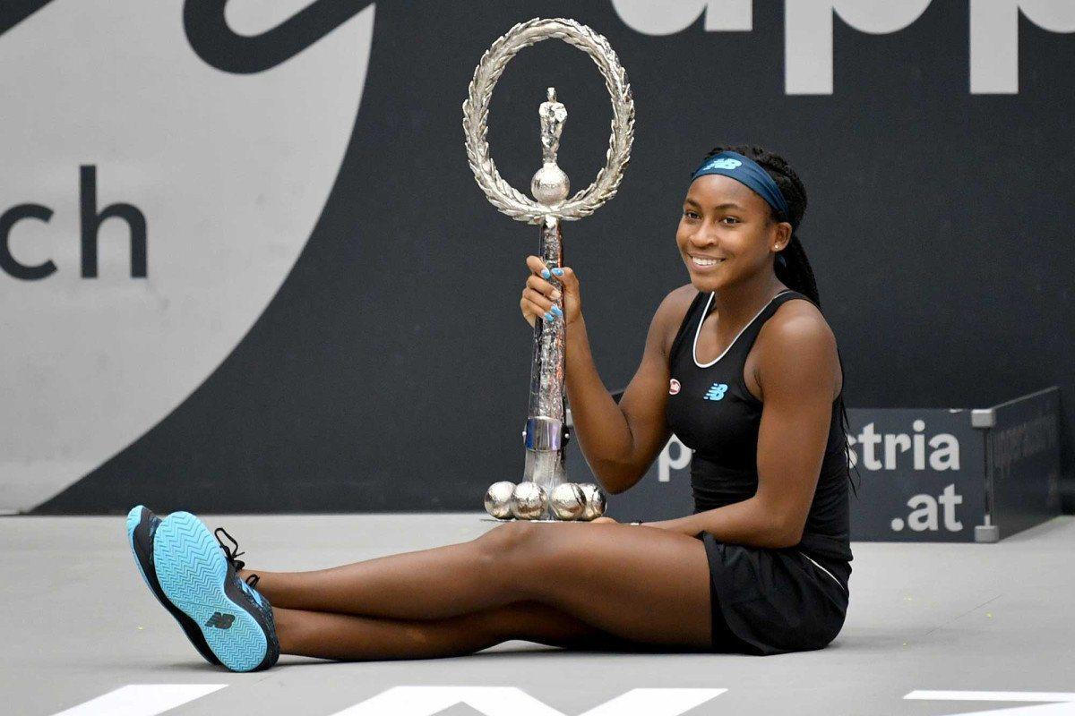 美國15歲網球天才少女高芙成為15年來最年輕的WTA冠軍得主。 截圖自@Ne...