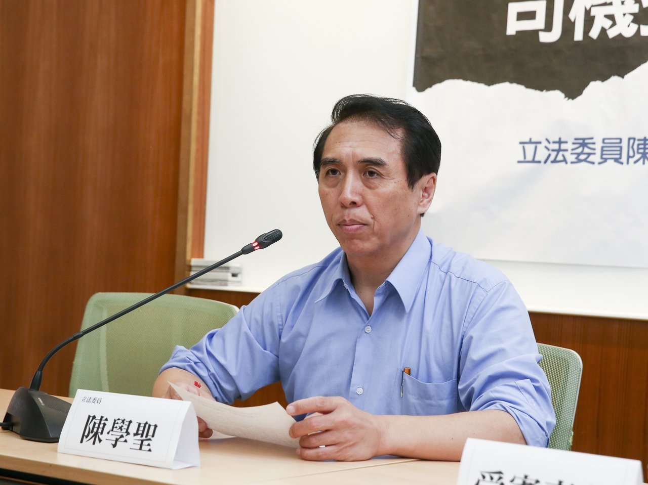 國民黨立委陳學聖。聯合報系資料照片/記者曾原信攝影