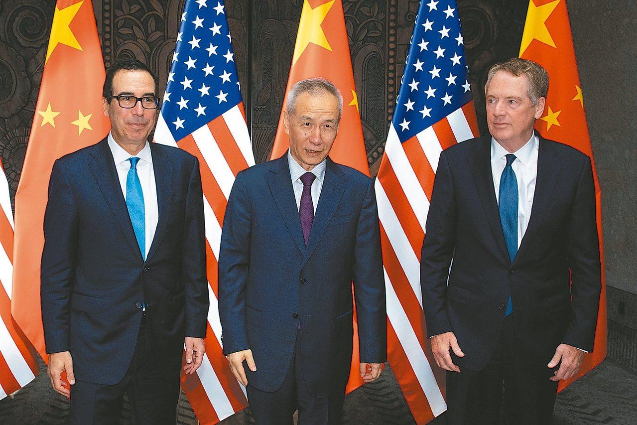 外媒透露,北京已邀請美方談判代表下月赴陸進行進一步經貿磋商。圖為中國大陸副總理劉...