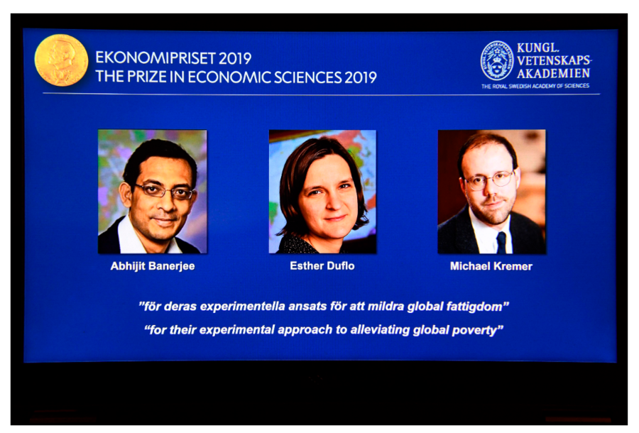 2019年諾貝爾經濟學獎得主今天揭曉,3位共同獲獎學者分別是出生於印度、法國與美...