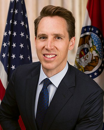 美國共和黨籍聯邦參議員霍利。 圖片來源/「美國參議院」網站