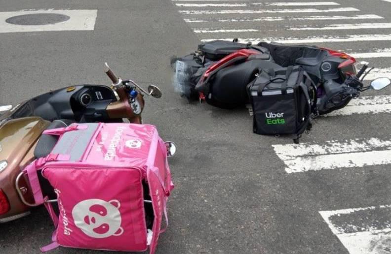 圖/兩大外送平台foodpanda及Uber Eats接連於連假發生兩起死亡車禍...