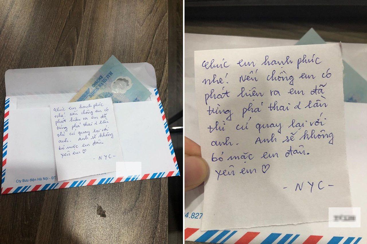越南一名新娘邀前男友參加她的婚禮,沒想到對方竟然寄來一封信,讓她被趕出家門。 圖...