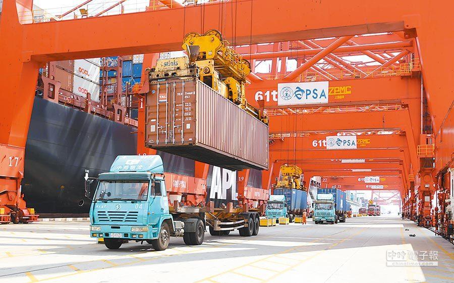 前三季中美貿易額下跌一成。取自新華網