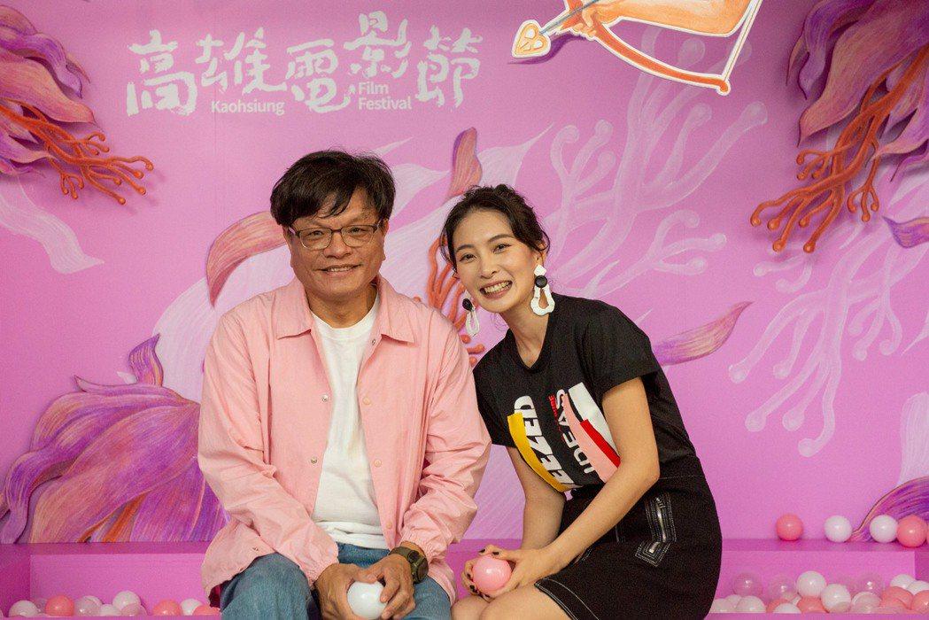 「野雀之詩」導演施立與女主角李亦捷出席高雄電影節映後座談。圖/高雄電影節提供