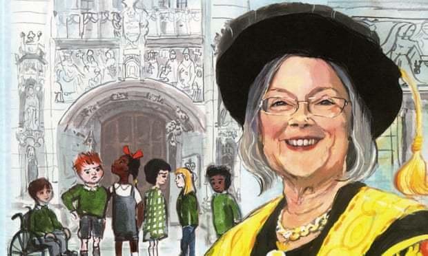 英國最高法院院長海爾女爵成為童書主角。取自法律行動組織官網