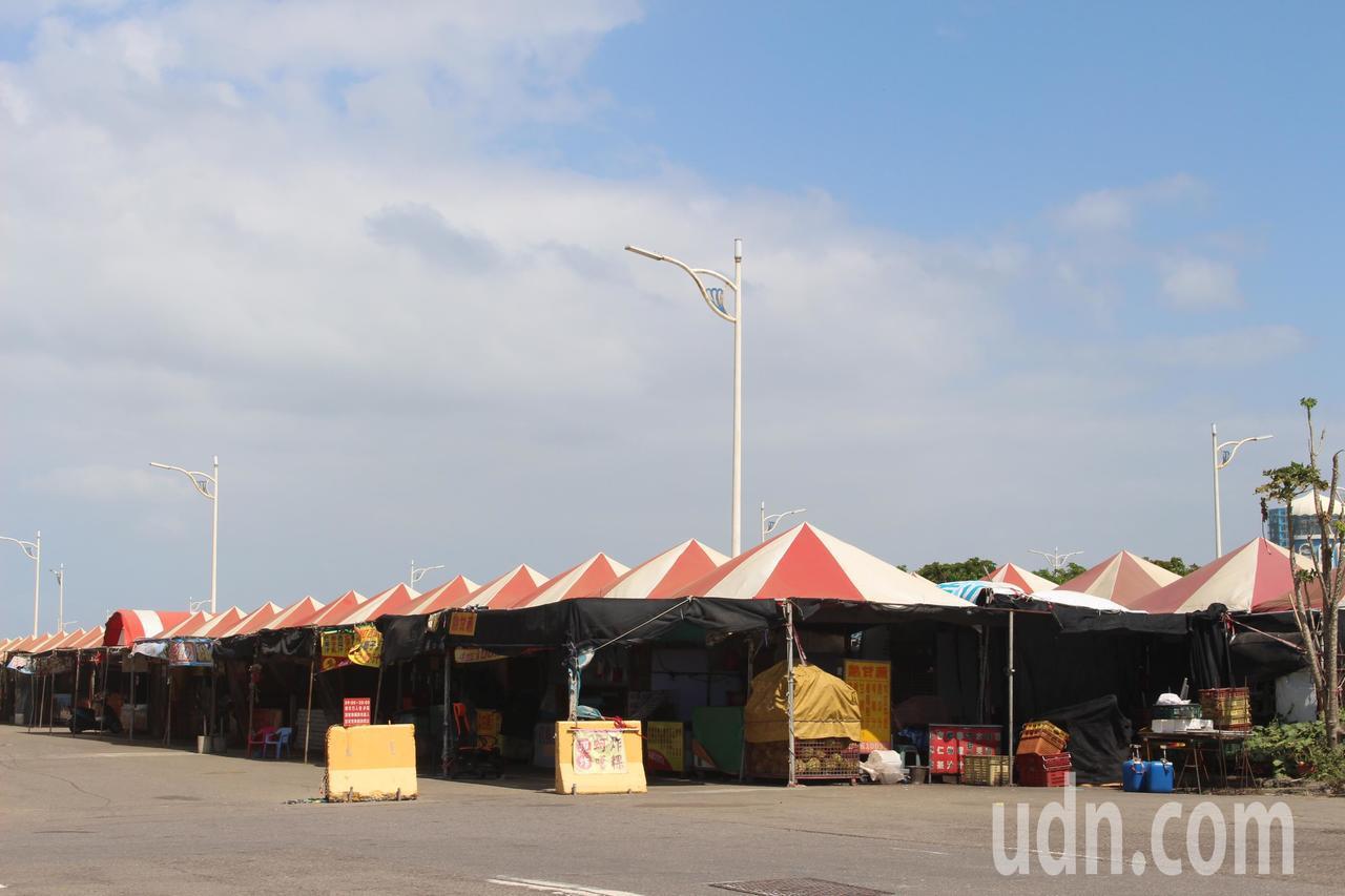 竹市漁產直銷中心攤商現況。記者張雅婷/攝影
