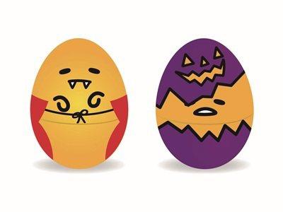 「巧趣多萬聖蛋黃哥巧克力糖造型蛋」售價79元。圖/全家提供