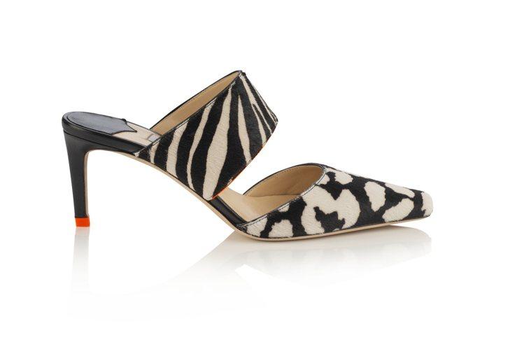 HAWKE鞋款以黑白斑馬紋和豹紋讓人聯想到六○年代的歐普藝術。圖/Jimmy C...