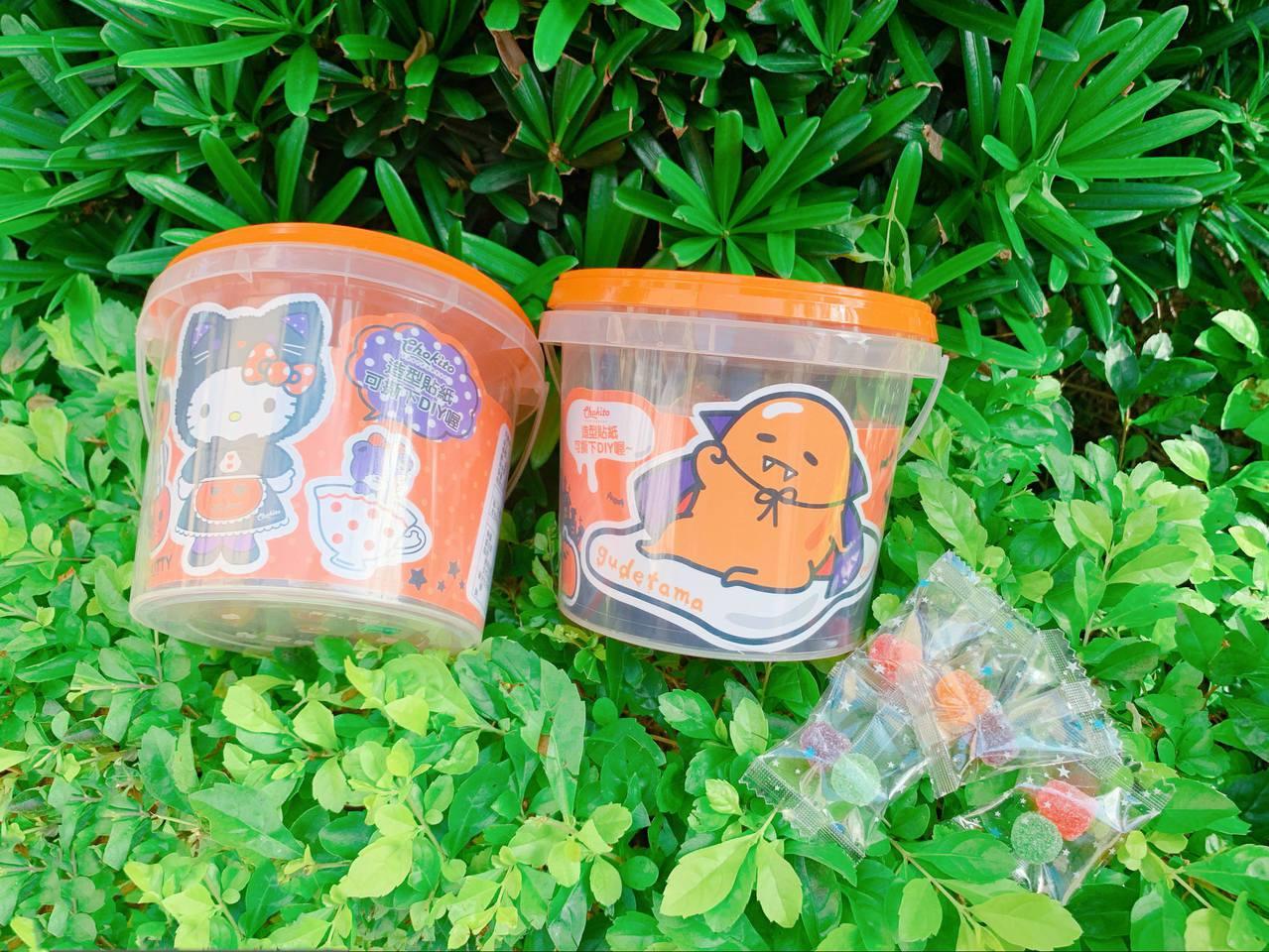 「三麗鷗萬聖節水果軟糖桶」每桶售價99元。記者徐力剛/攝影