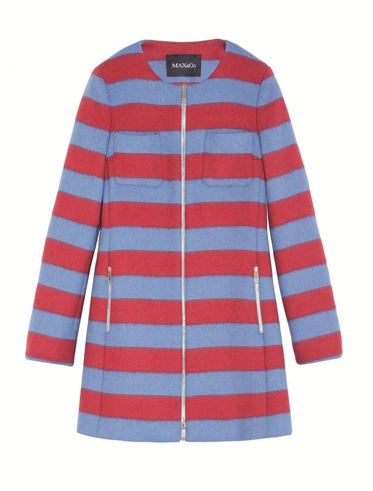 Max & Co.撞色條紋經典外套,原價27,100元,2折價5,420元(內湖...