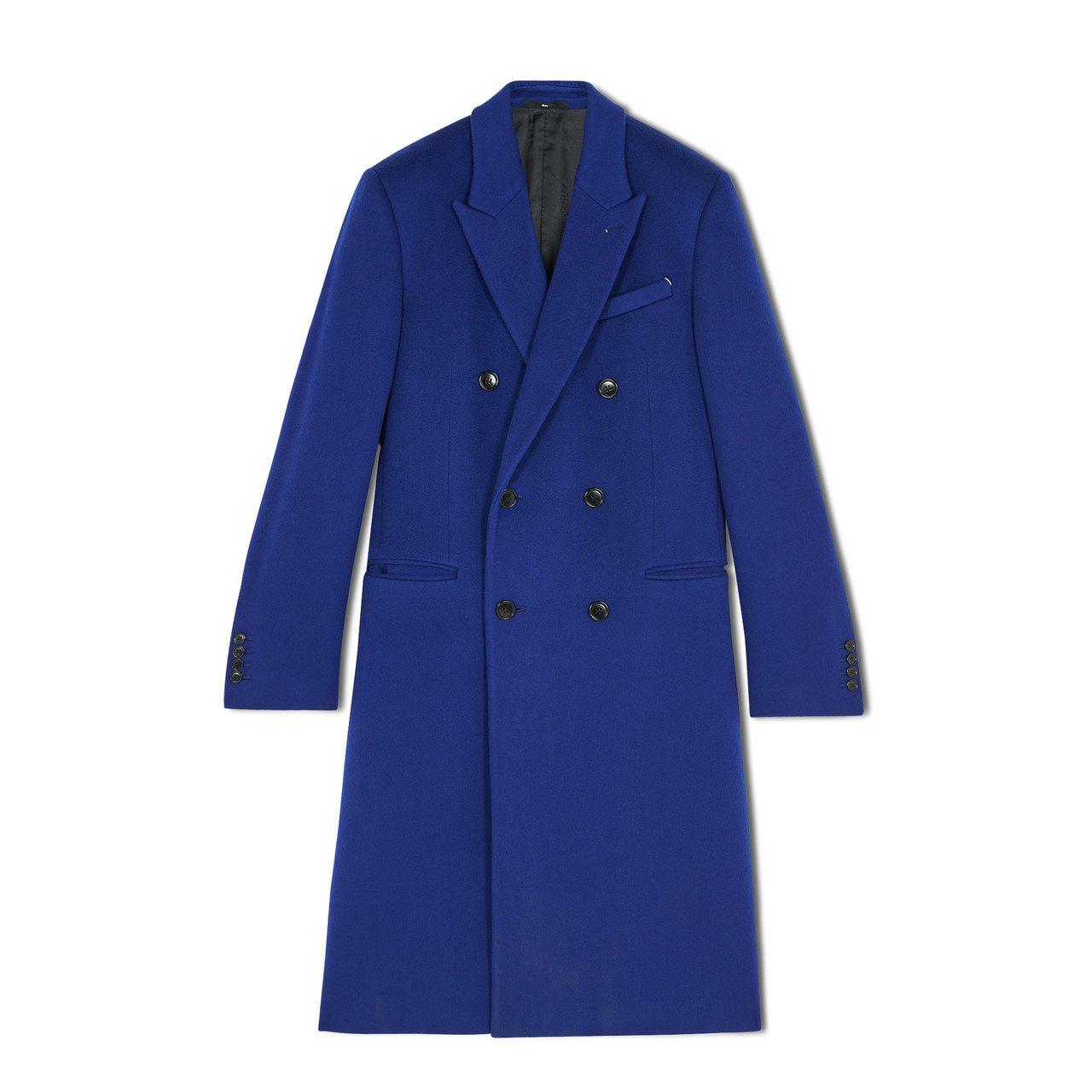 Berluti喀什米爾羊毛藍色大衣22萬4,000元。圖/Berluti提供