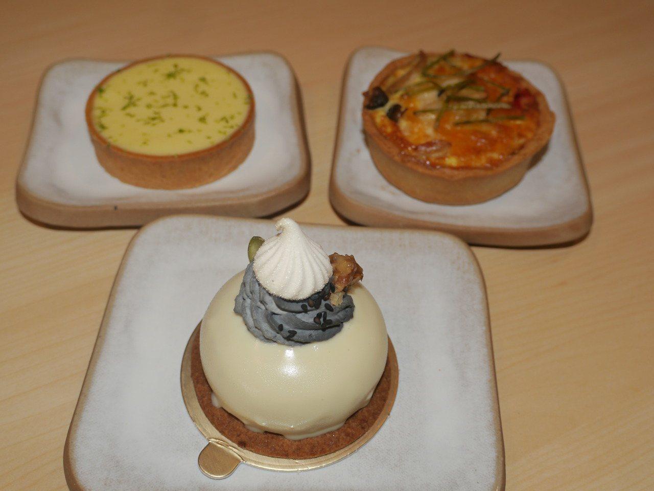 「濃・甜original dessert」販售的甜點外型誘人。記者徐白櫻/攝影