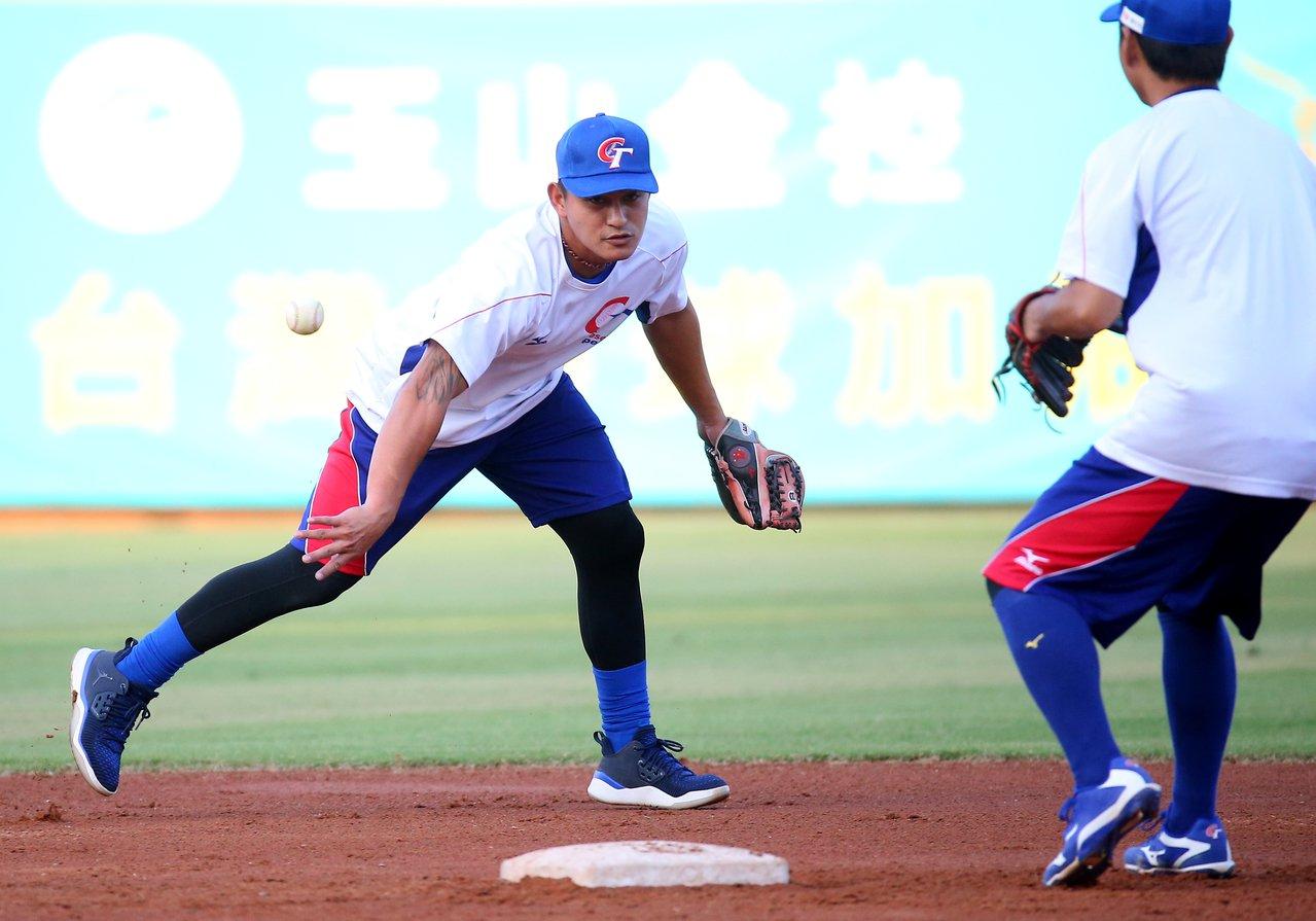 2019年亞洲棒球錦標賽,中華隊林子偉賽前練習。記者余承翰/攝影