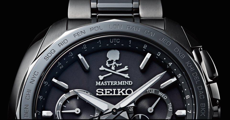 在12點鐘方向,除了「SEIKO」與「mastermind」的Logo之外,還有...