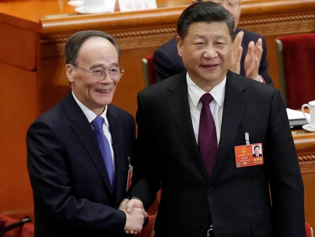 中國大陸國家副主席王岐山。圖/取自路透社