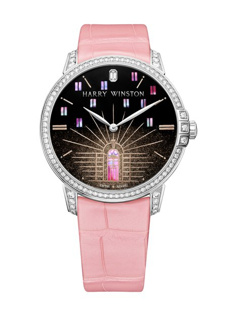 海瑞溫斯頓Midnight™系列Yozora腕表,18K白金表殼,限量10組,約...
