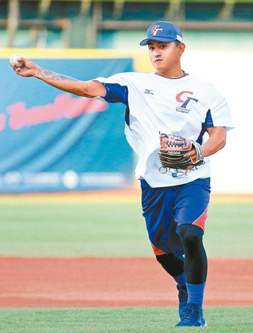 中華隊的紅襪隊野手林子偉,今天對日本隊將上場。 記者余承翰/攝影