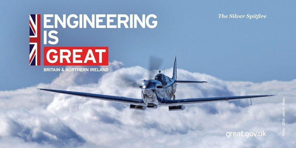 英國駐台代表處證實,噴火式戰機將於本月中旬過境台灣。 圖/取自英國代表處臉書