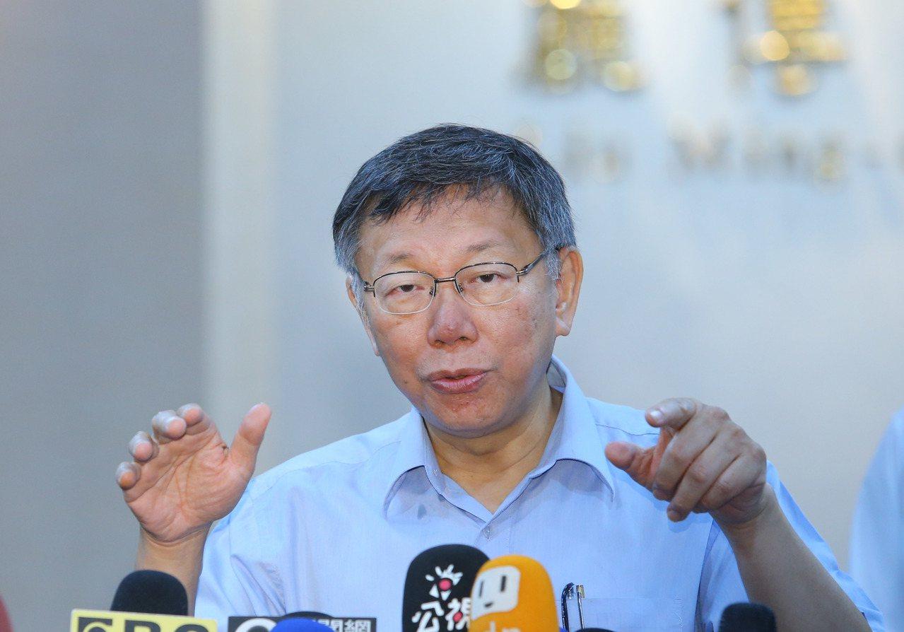 柯文哲說,分級轉診制度在台灣一直沒有落實,輕症病人也是往醫學中心擠,造成急診壅塞...