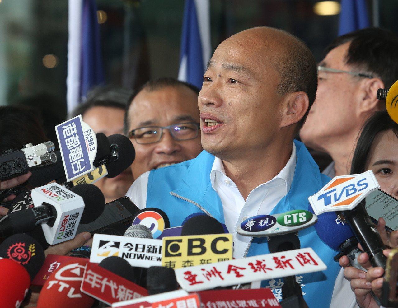 高雄市長韓國瑜宣布請假參選總統。記者劉學聖/攝影