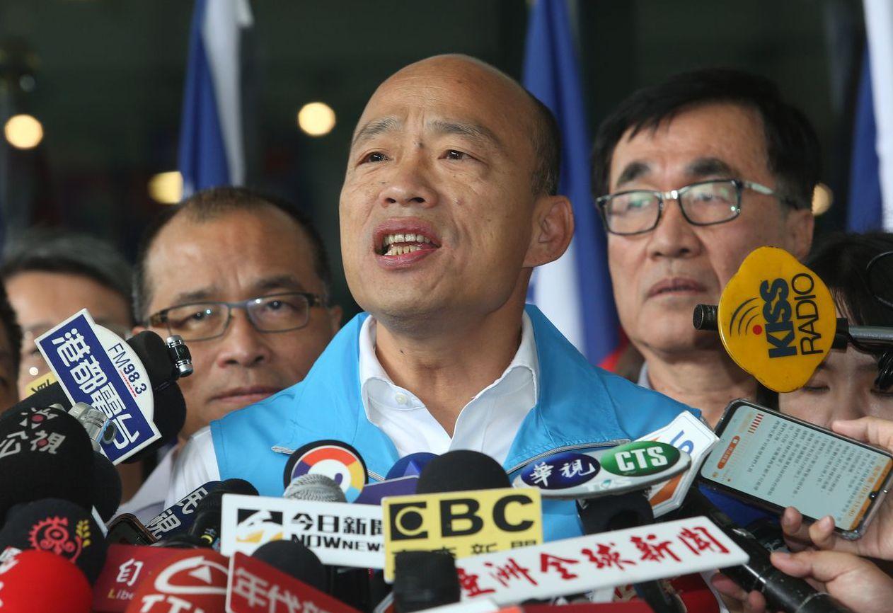 韓國瑜昨天宣布,從16日開始請假,全力投入總統大選。 記者劉學聖/攝影