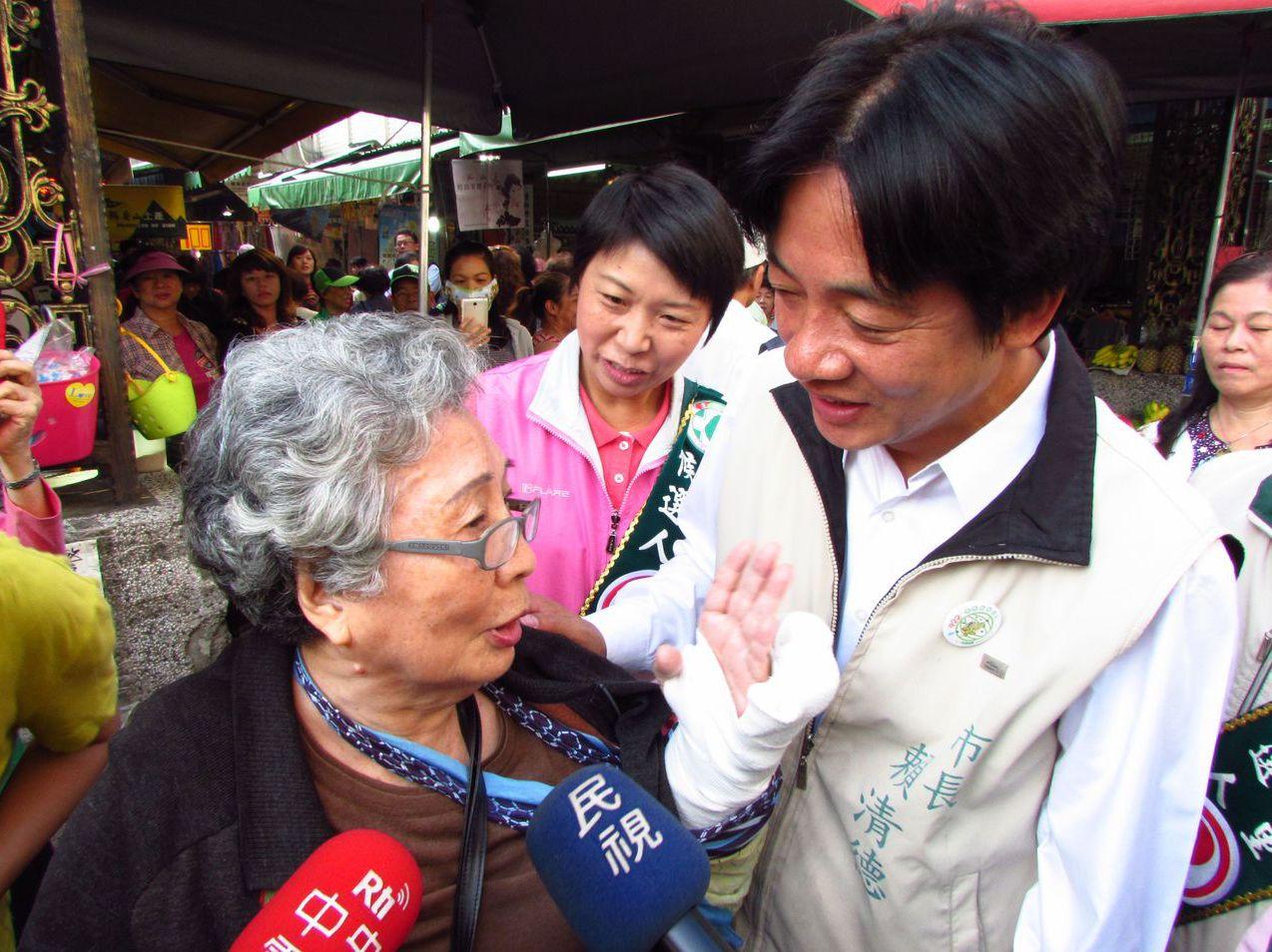 2014年賴清德競選連任台南市長不請「全」假,被對手質疑。 圖/聯合報系資料照片
