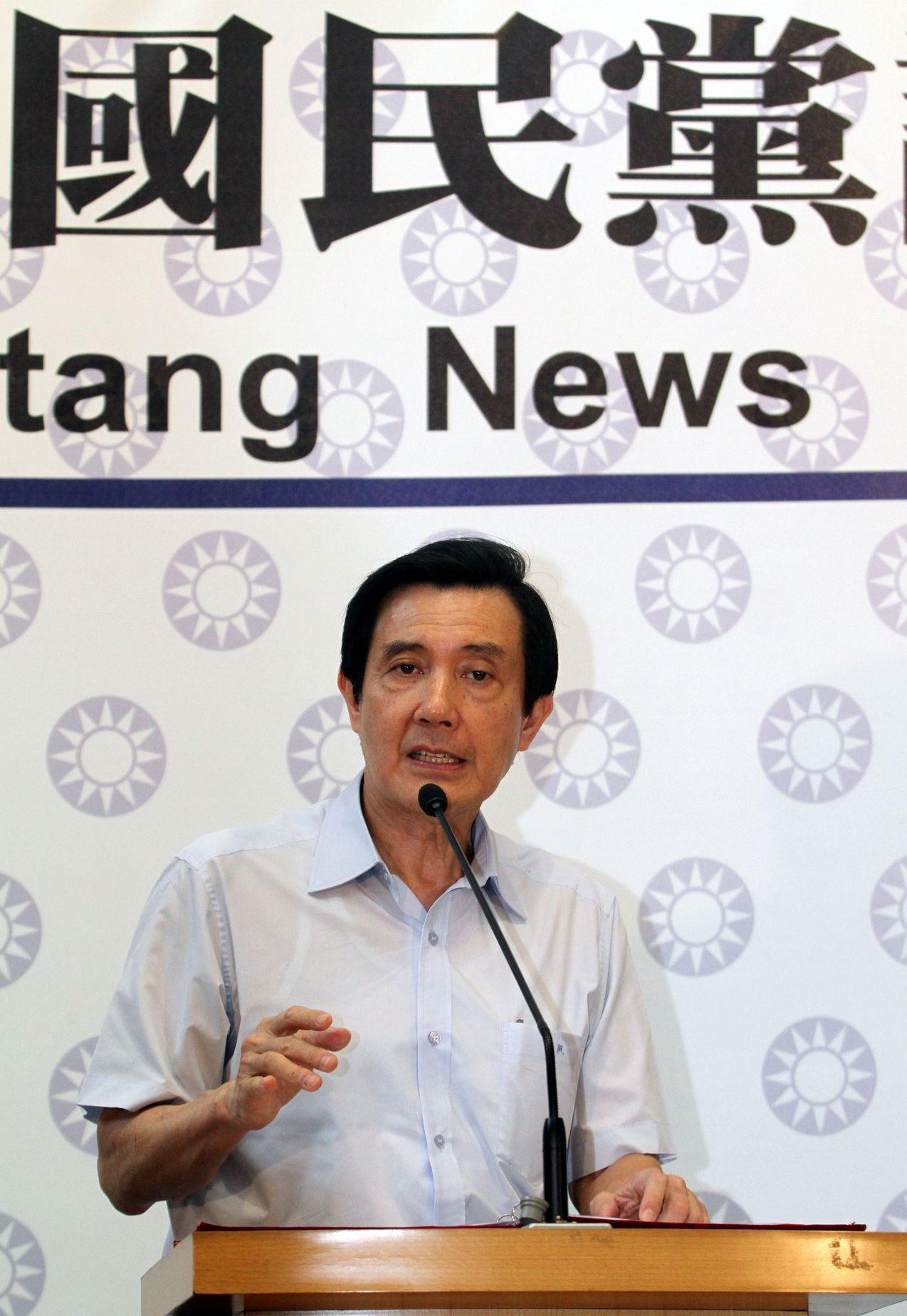 2013年馬英九競選連任國民黨主席,在當年6月20日辦理登記後,立即請假。 圖/...
