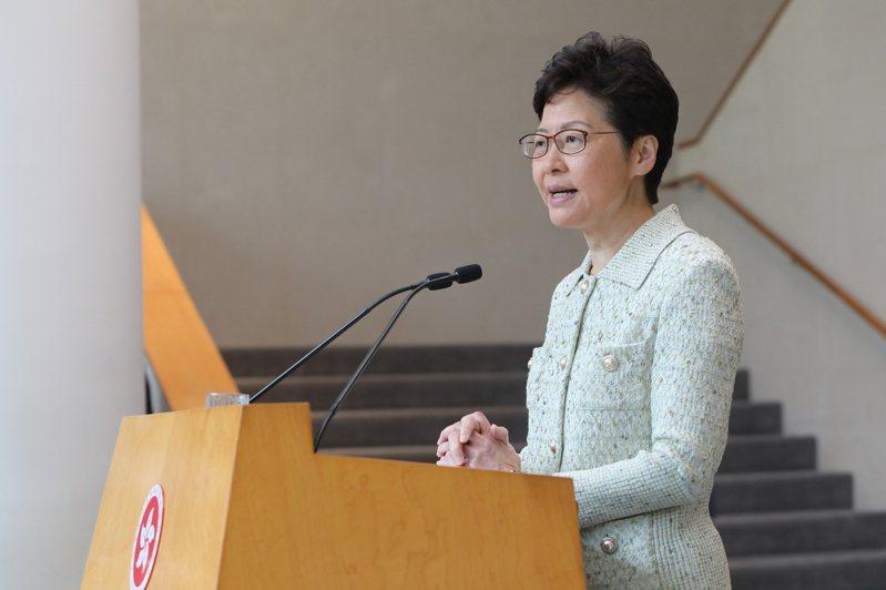 香港行政長官林鄭月娥。 中通社