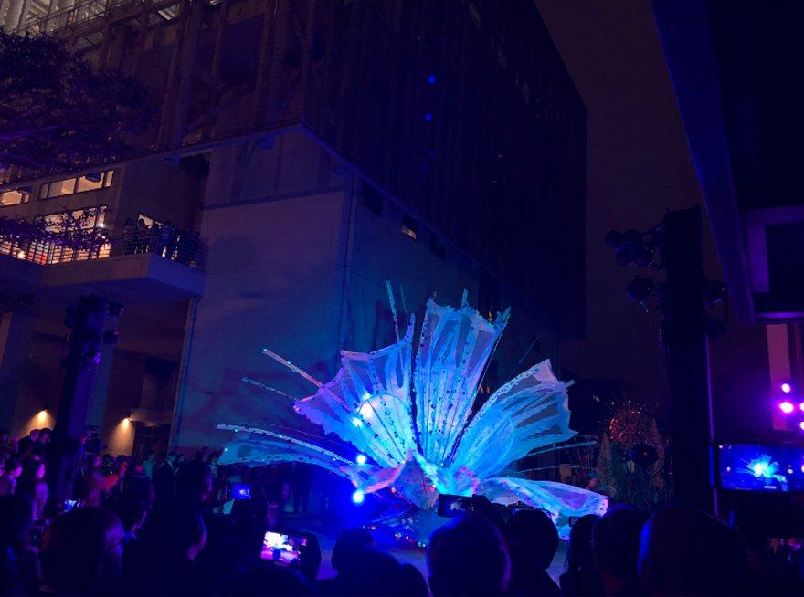 聖露西亞駐台大使館15日在台北舉辦獨立40週年慶祝音樂會,聖露西亞嘉年華舞團Tr...