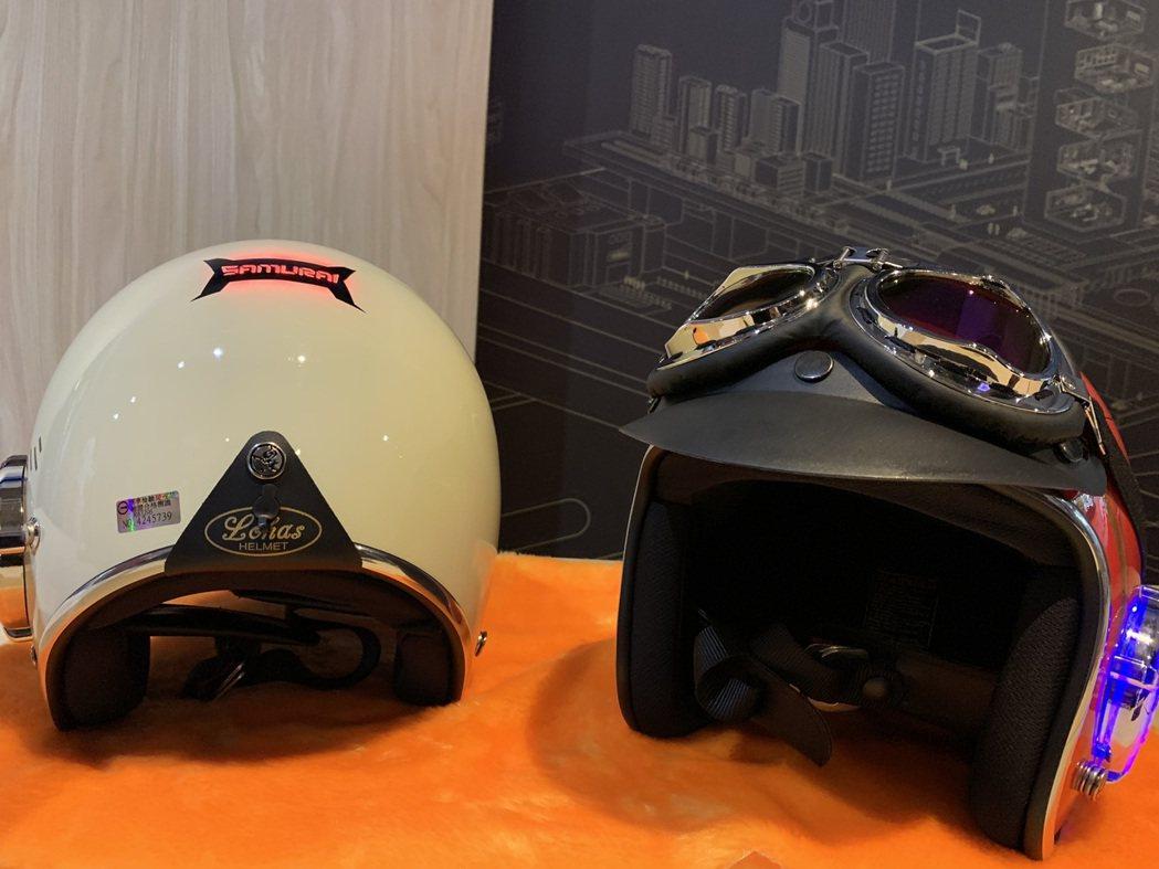 巨彬創新:SAMURAI 智慧安全頭盔。 蔡尚勳/攝影