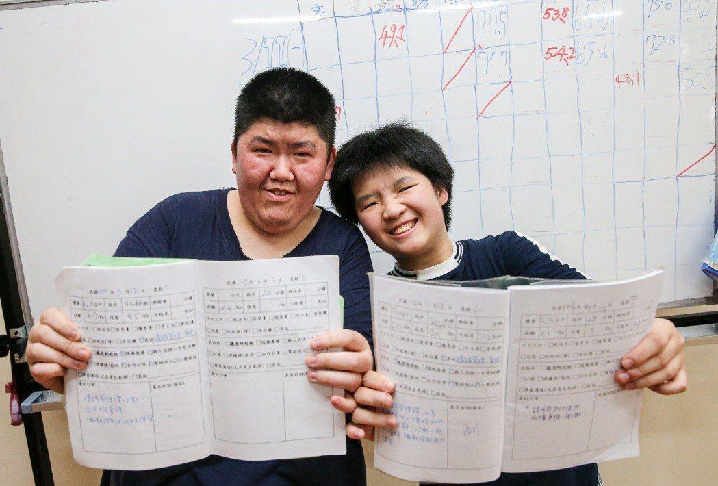 小胖威利症病友在協會裡每天按表操課,學習課程,看見自己在減重和能力上的進步,他們...
