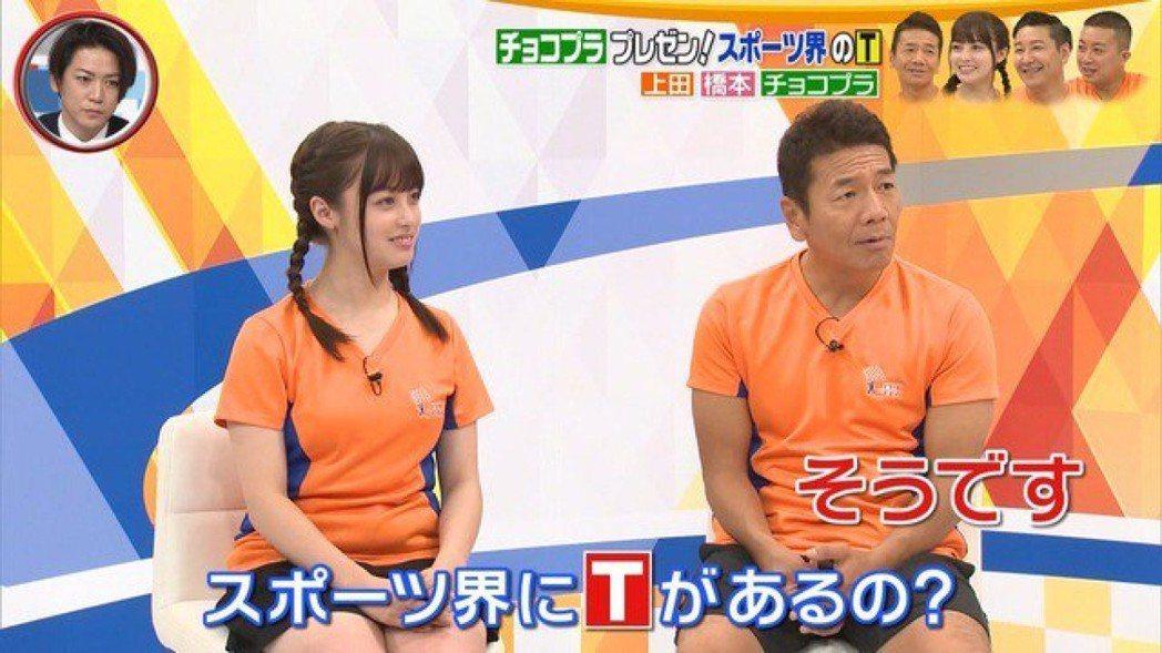 橋本環奈(左)上綜藝節目,被發現有小腹。圖取自日媒tsuisoku