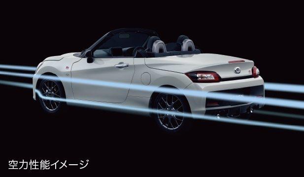 Copen GR Sport在空氣力學上也做加強。 摘自Daihatsu